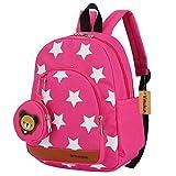 Stern Babyrucksack Kindergartenrucksack Kleinkind Kinder Rucksack Mädchen Jungen Backpack Schultasche - Rose