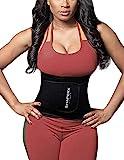 DeepTwist Waist Trainer Corset, Damen/Männer Taillengürtel Geburt Bauch Weg Body Shaper Verstellbar Taillenmieder Gürtel für Weight Loss,UK-DT8010-Black-S