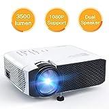 APEMAN Beamer, Mini LCD tragbarer Beamer, 3500 Lumen, unterst¨¹tzt 1080p Full HD, 45000 Stunden, Heimkino-Projektor, Kompatibel mit PS4, Chromecast, HDMI / VGA / AV /, Wei?