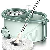 GHH Mopp Twist Disc Set Clean Mop Wischer Für Reinigung, Wischmop Mit Effizienter Schleudertechnologie, Schleudermop Ohne Fußbedienung