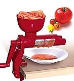 E K Tomatenpresse, Passiergerät, Kunststoff mit Auffangbehälter und Stößel, rot