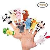 10 stücke Fingerpuppen, weicher Plüsch Tierfingerpuppen Set, Baby Geschichte Zeit Samt Tier Stil für Kleinkinder