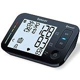 Beurer Oberarm-Blutdruckmessgerät BM 54 Beurer, digitaler Blutdruckmesser mit XL-Display, schwarz, Bluetooth  & großes Display, Arrhythmie-Erkennung, große Manschette für Oberarmumfänge 22 - 44 cm