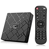 Bqeel Android TV BOX 【4GB+64GB】 Android 9.0 TV Box HK1 MAX mit RK3328 Quad-Core 64bit Cortex-A53 / WIFI 2.4GHz/5GHz/ 802.11 b/g/n Gigabit/ 4K HD Android box Smart TV Box