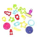 Lisanl 18 Stück gemischte Knetformen, Teigausstechformen für Kinder, Modellierwerkzeuge