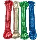 Wäscheleine 20m mit Stahldrahteinlage PVC 2,8mm, farbig sortiert
