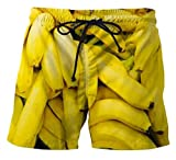 Beyond_AV Herren Badehose Sommer Badeshorts 3D Print Surf Board Shorts (Banana, XL)