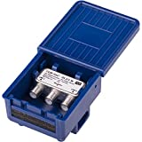 DUR-line 2/1 DiseqC Schalter - im Wetterschutzgehäuse für den Empfang von 2 Satelliten für 1 Teilnehmer - LNB Signal Umschalter/Switch für SAT Receiver - für Multifeed-Anlagen ohne Multischalter