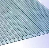 RK-Stegplatten, Polycarbonat, Stegplatten, Hohlkammerplatten, Gewächshausplatten, klar 1500 x 700 x 6,0 mm