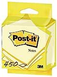 Post-it 5426GB Haftnotiz Würfel, 70 g, 76 x 76 mm, gelb, 450 Blatt - in weiteren Farben verfügbar