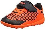 Puma Unisex-Kinder Future 2.4 TT V INF Fußballschuhe, Schwarz Black-Shocking Orange 01, 27 EU