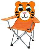 hibuy Kinder Klappstuhl mit Lustigem Tiermotiv. Faltstuhl Strandstuhl mit Motiv: orangener Tiger