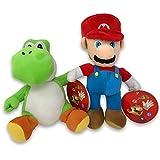 ifancy Super Mario & Yoshi Plüsch-Figuren Stofftier von Nintendo im Doppelpack zum Spielen, Kuscheln & Sammeln