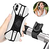 Handyhalterung Fahrrad, Abnehmbare handyhalter Fahrrad Face ID/Touch ID kompatibel, 360° drehbar,BAONUOR Universal Motorrad/Fahrrad Silikon Handy Halter, für 4-6 Zoll Smartphone