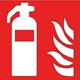 Intratec Brandschutzzeichen Feuerlöscher Sicherheitsschild Warnschild 200x200mm aus Aluminium langnachleuchtend Betriebsausstattung