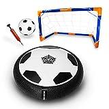 Hoverball Set - Indoor Fussball mit LED-Beleuchtung - enthalten im Set sind ein aufblasbarer Mini Fussball, eine Ballpumpe und ein Fussballtor - das perfekte Fussball Spielzeug für Innen und Außen