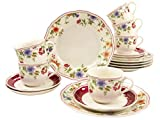 Creatable, 16140, Serie Cornwall Garden, Geschirrset Kaffeeservice 18 teilig
