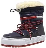 Hilfiger Denim Damen Tommy Jeans Corporate Snowboot Schneestiefel Blau (Midnight 403) 39 EU