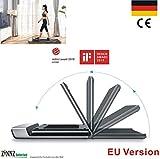 WalkingPad A1 EU Version Klapplaufband Laufband faltbar für/unter Schreibtisch Fitnessgeräte ergonomisches Arbeiten Geschwindigkeitsregelung Fernbedienung App - Grau ZINNZ SELECTED