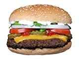 FMprofessional Burgerpresse Ø 11 cm aus hochwertigem Edelstahl, Profi-Presse mit Skalierung bis 400g, BBQ Burger, für perfekte und gleichmäßige Pattys (Farbe: Edelstahl), Menge: 1 Stück