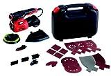 Black+Decker 4-in-1 Multischleifer (220W, mit Autoselect-Auswahl, werkzeuglosem Schleifplattenwechsel, mit Fingeraufsatz, im Koffer mit 17tlg. Schleifpapier-Zubehör-Set) KA280K