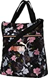 PUMA Damen WMN Core Seasonal Shopper umhängetasche, Black-floral AOP, OSFA