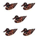 Leisial 5 Stücke Japanischer Stil Keramik Messerbänkchen Ente Keramik Besteckbänkchen Essstäbchen Halter Essstäbchen Ablagen 4.8 * 1.8 * 2.5CM