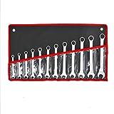 Maulschlüssel-Satz, 12st Edelstahl Metric Schraubenschlüssel Doppel-Ended 8-19mm Open End, für Auto-Reparatur