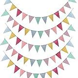Dulabei 5 Stück Wimpelkette Wimpel Banner Wimpel Girlande draußen Outdoor Dekoration für Hochzeit Party Weihnachten Geburtstagsfeier