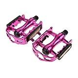 Oyria Rennrad Mountainbike Pedale rutschfeste Aluminiumlegierung Ultraleicht MTB Lager Fahrrad Pedal Bike Zubehör, Pink