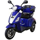Rolektro E-Trike 25 V.2 Rot Dreirad Elektroroller 1000W 25 Km/H RW 50KM Stockhalter Koffer USB EU-Zulassung