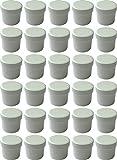 30 Salbendöschen, Creme-döschen, Salbenkruke hoch, 35ml Inhalt - MADE IN GERMANY