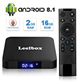[Android 8.1 TV-Box] Leelbox Smart-TV-Box Q2 MINI Quad Core 2 GB RAM/16 GB ROM/ 4K × 2K UHD H.265/ HDMI/USB × 2/ WLAN Media Player/Android Set Top Box mit Voice Fernbedienung
