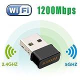 Maxesla WLAN Adapter 1200Mbps Mini WLAN USB Adapter Dualband 2.4G/5.8G für Desktop/PC/Laptop/Notebook, Unterstützt Windows 7/8/8.1/10 / Mac OS 10.7-10.12 / Mac OSX