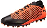 Puma Unisex-Kinder Future 2.4 MG JR Fußballschuhe, Schwarz Black-Shocking Orange 02, 35 EU