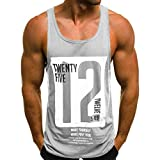 UFODB Männer Tanktop Fitness,Herren Tank Tops Funktionelle Sport Bekleidung T Shirts Bodybuilding Muskelshirt Tanktops Tankshirt Laufen Workout Unterhemden Camisole Tops
