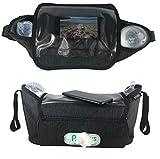 HECKBO Kinderwagentasche & Buggy Organizer Tasche | inkl. Smartphone-Tasche & Feuchttuch-Tasche | wasserabweisendes, stabiles Material | Baby Aufbewahrungstasche, Stroller, Kinderwagen Zubehör