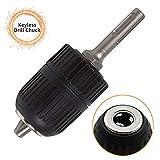 Schnellspannbohrfutter Professional, 1,5 mm - 13 mm, AOBETAK SDS Bohrfutter Schlüssellos mit 1/2' Adapter SDS-plus für SDS-Bohrer, Schwarz