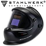STAHLWERK ST-600PV Vollautomatik Schweißhelm, großes Sichtfeld, inkl. 2 Ersatzscheiben & Aufbewahrungstasche, schwarz, 5 Jahre GARANTIE* auf FILTER