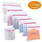 BoxLegend 7 Stück Wäschenetz Wäschesack Wäschetasche Waschbeutel für Empfindliches Bluse Strumpfwaren BH Unterwäsche Socken mit Reißverschluss