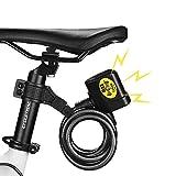 CARACHOME Fahrradschloss Alarm, Alarmlautstärke 110 dB, wasserdichte kettenschloss,für Fahrradmotorräder Tore Zäune Glastüren