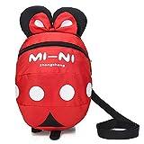 Baby Kind Sicherheitsgeschirr Rucksack Kind Kinder niedlich Cartoon Riemen Schulter Rucksack Tasche mit Zügeln Leine Rucksack (Rot, 2-5 Jahre alt)