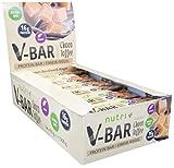PROTEINRIEGEL VEGAN 24er Box - High Protein Bar 50g - LowCarb Riegel V-BAR - Choco Toffee Geschmack - nur 155 Kalorien - 16 g Eiweiß - veganer Eiweißriegel ohne Zusatz von Zucker