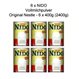 6er Pack, Nido Instant Vollmilchpulver, Instant Full Cream Powder, Nestle 6 x 400g, 2,4kg