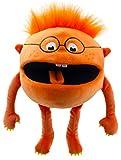 Lashuma Plüsch - Handpuppe Baby Monster Orange | Plüschtier Theaterpuppe ca. 32 cm