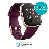 Fitbit Versa 2 - Gesundheits- & Fitness-Smartwatch mit Sprachsteuerung, Schlafindex & Musikfunktion, Bordeaux
