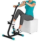 VITALmaxx 08024 Vitaltrainer 'Duo' | Trainiert  Arm- & Beinmuskulatur | Regt Kreislauf an | Auch ideal für Senioren| Leichter Transport | Schwarz-Türkis