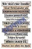 Bild 'Planken-Schild - Familienregeln' ~ Lv KW 11
