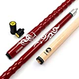 Cuesoul 58' Billardqueues 19oz Pool Queue Personalisiert Ahorn Pool Cue Stick 13mm Tips Very Nice Grip with Joint Protector/Shaft(CSPC-HL101)
