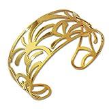 Amello Palmen Armband vergoldet Damen Schmuck Edelstahl ESAS54Y